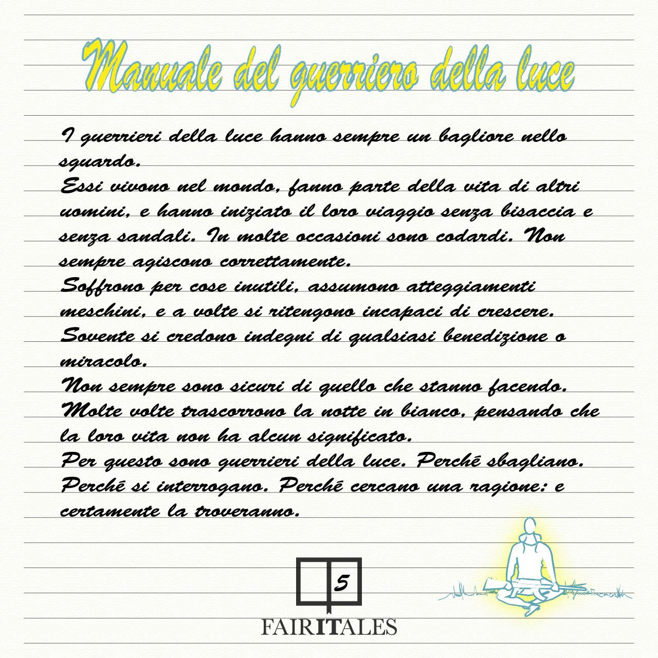 Exceptionnel Manuale del guerriero della luce. | Fairitales SD07